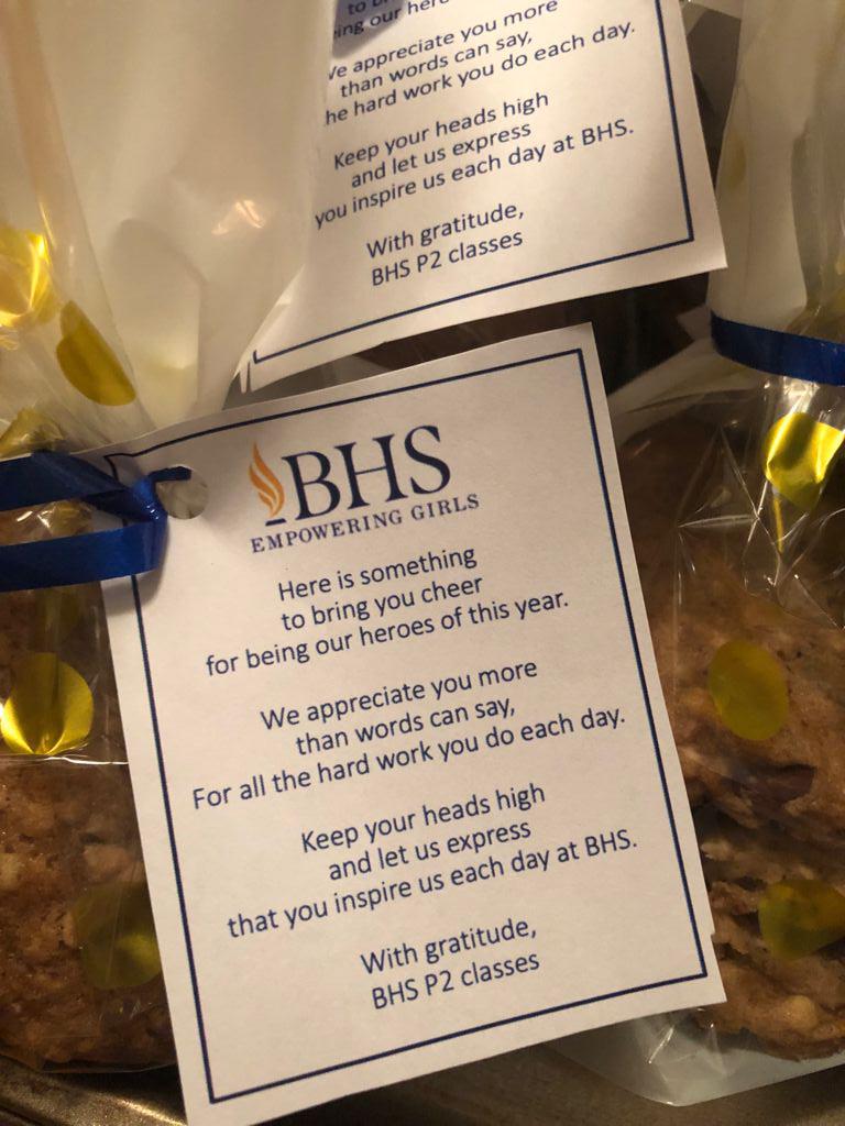 BHS Students Show Appreciation To KEMH Staff Bermuda Sept 2021 3