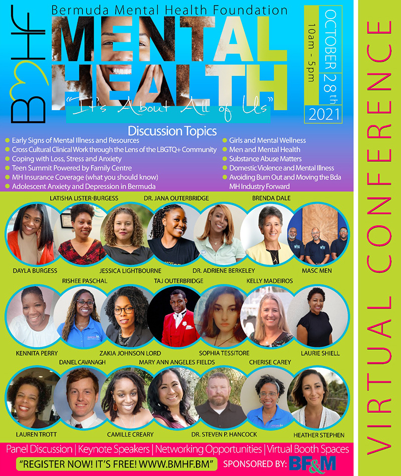 BMHF Mental Health Virtual Conference Bermuda Sept 2021