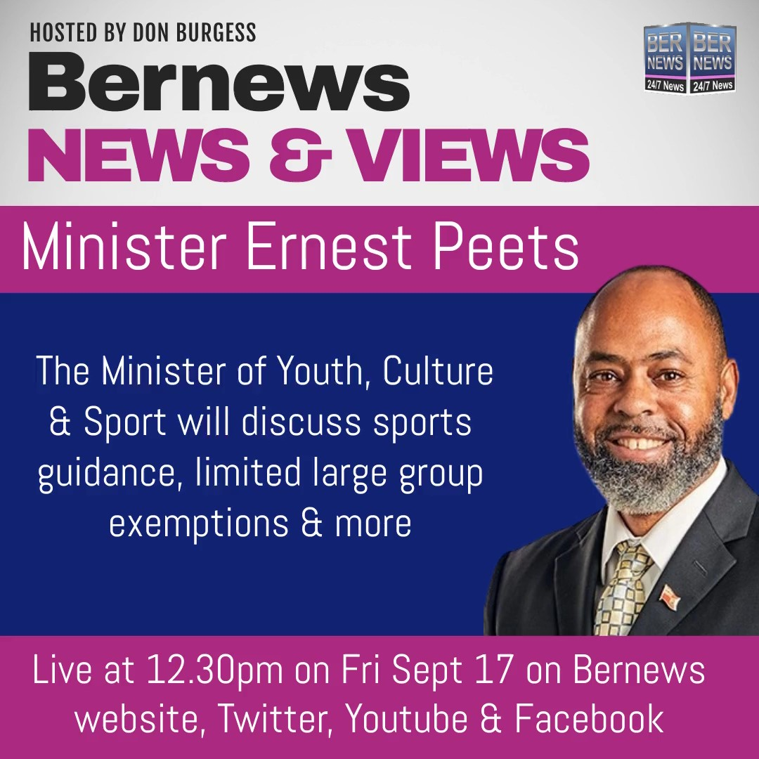 BNV Minister of Youth, Culture and Sport Dr Ernest Peets Bermuda Sept 17 2021