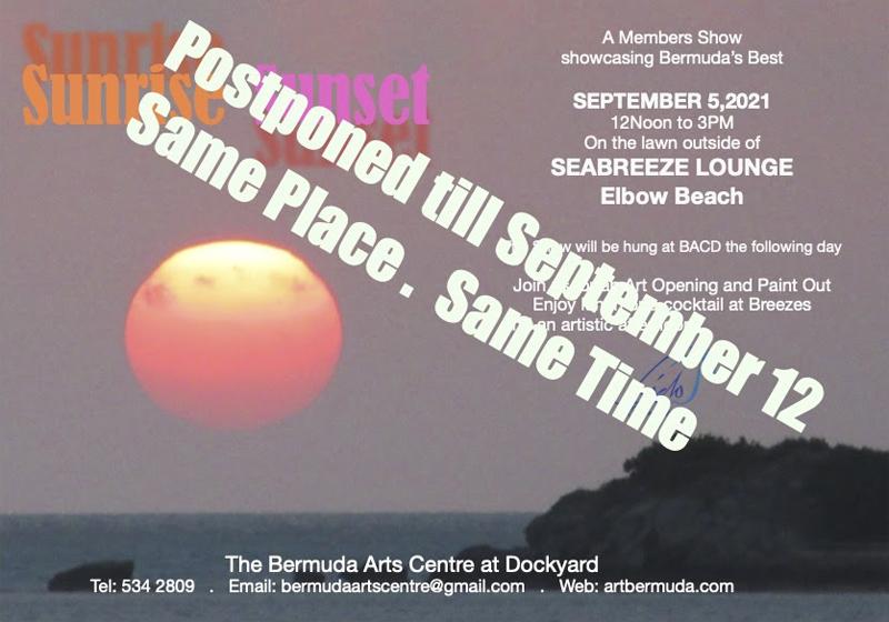 Bermuda Arts Centre's Sunrise Sunset Show Bermuda Sept 2021