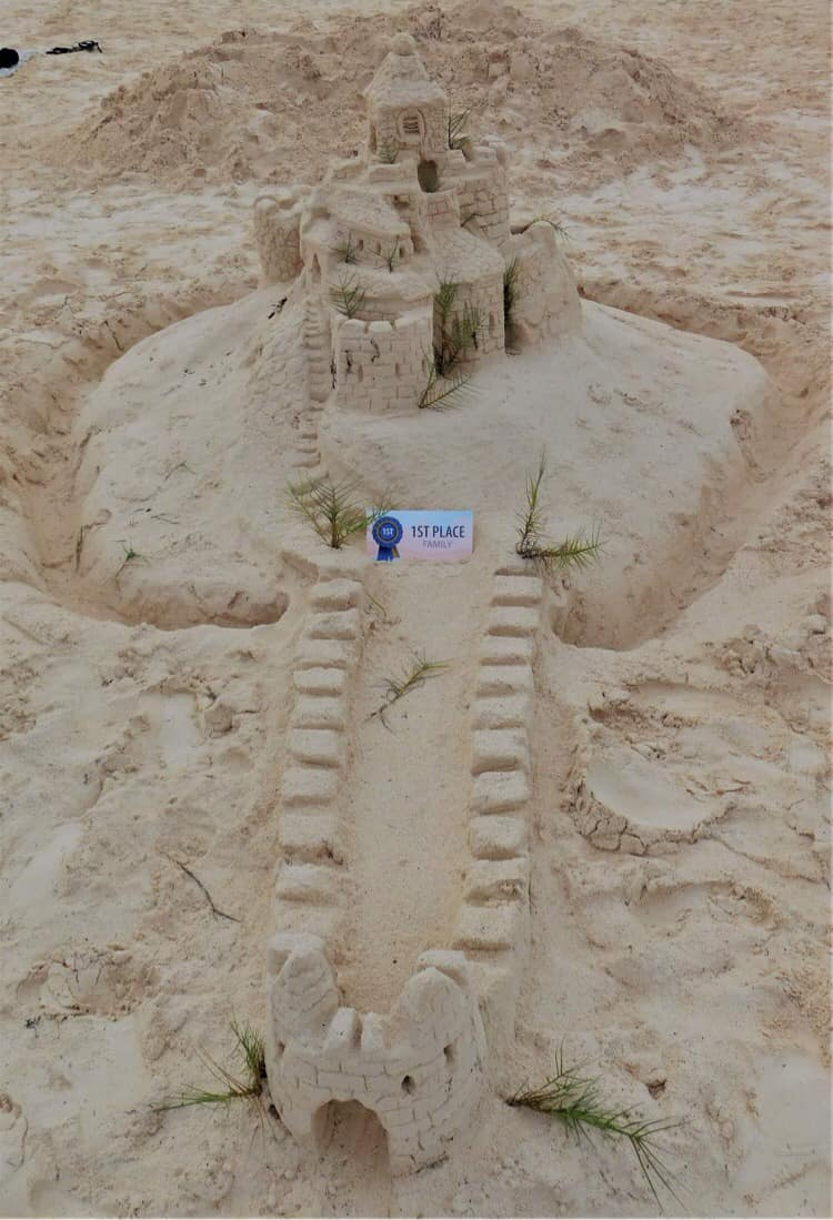 Bermuda Sandcastle Competition Family Category Sept 2021