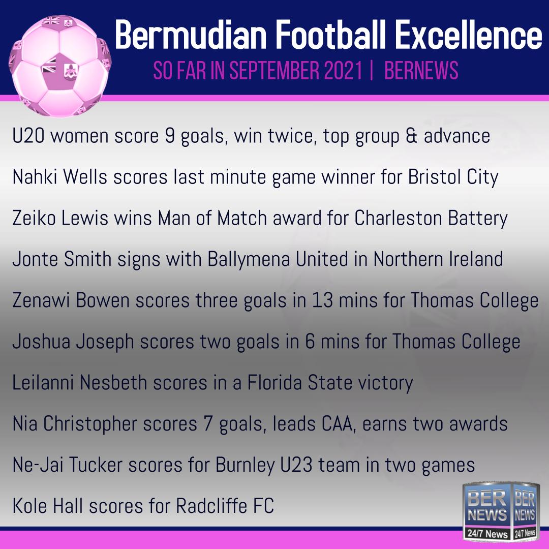 Bermudian Football Excellence sept 20 2021