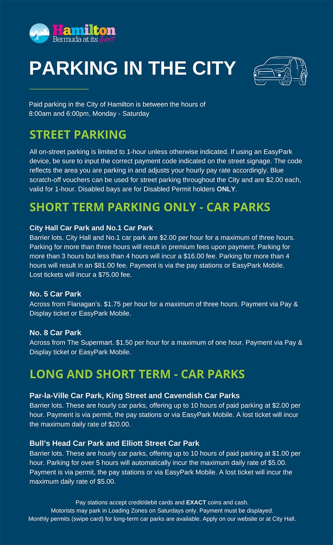 City Of Hamilton Parking Bermuda Sept 2021
