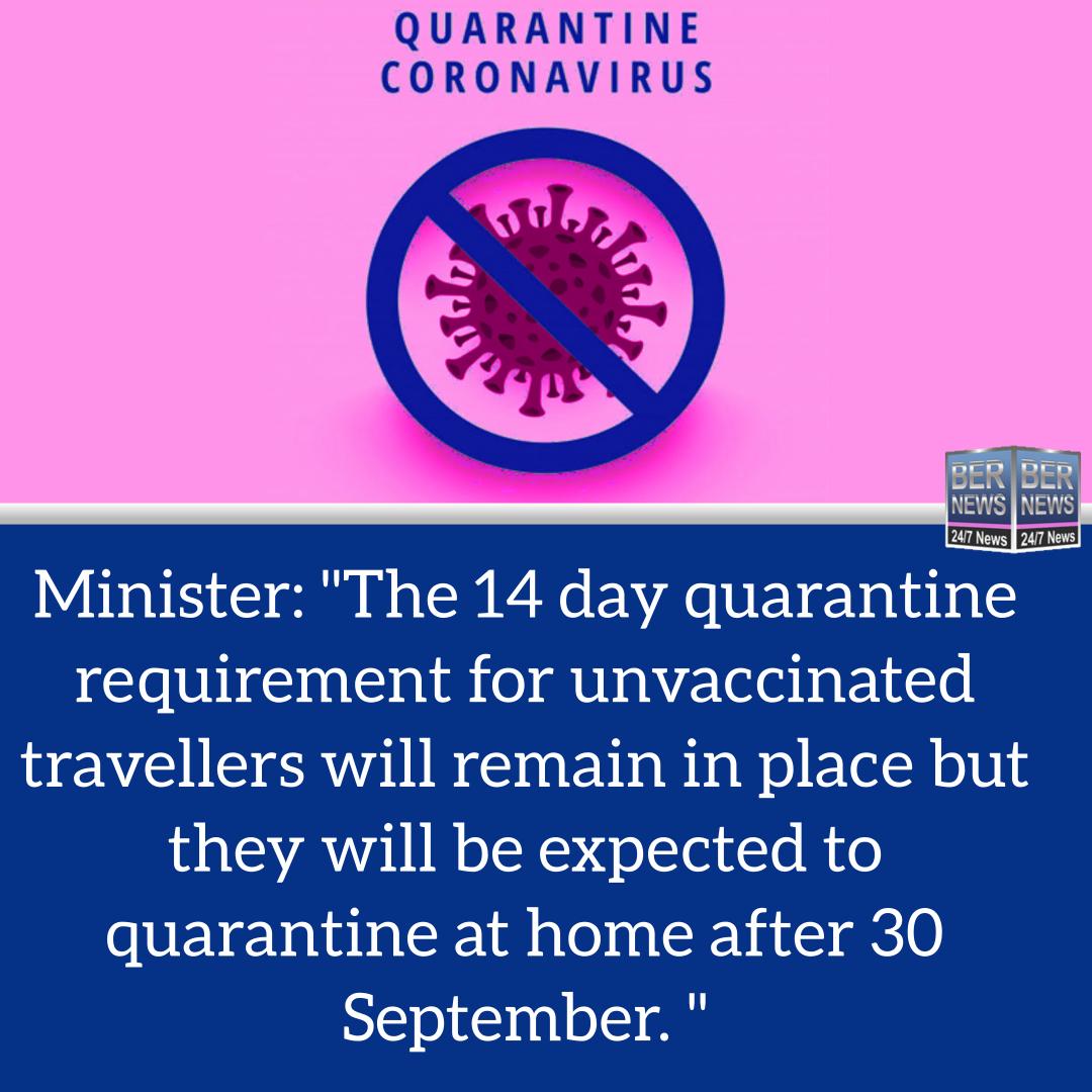 Covid Quarantine Bermuda Sept 24 2021