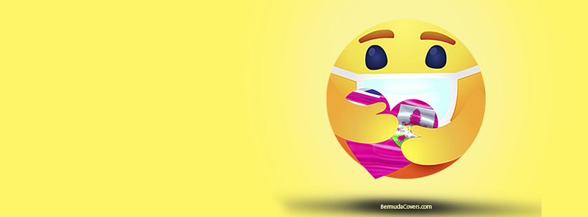 Emoji Heart Hug Mask Bermuda Yello Bernews Facebook Timeline Cover Graphic YyDNzgkN yellow