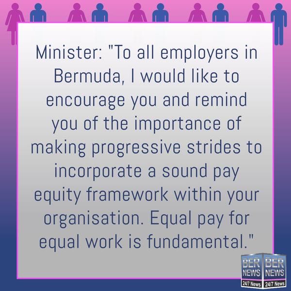 Equal Pay Day Bermuda  Bernews IG square Base Pink Blue