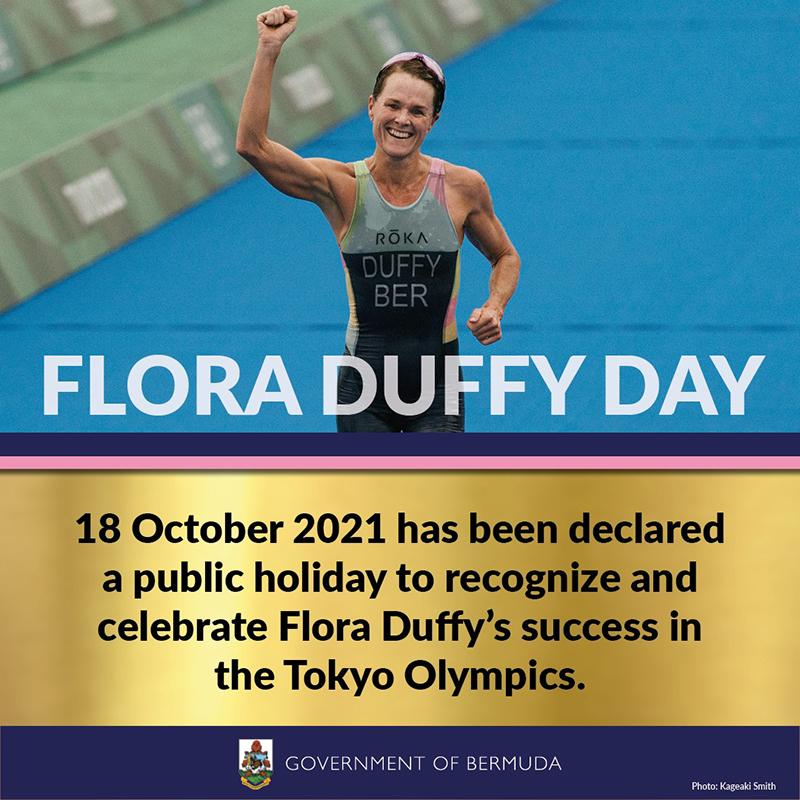 Flora Duffy Day Bermuda Sept 2021