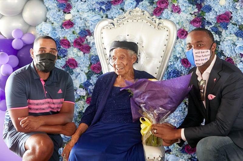 Inez Wilson 100th Birthday Bermuda Sept 2021 1