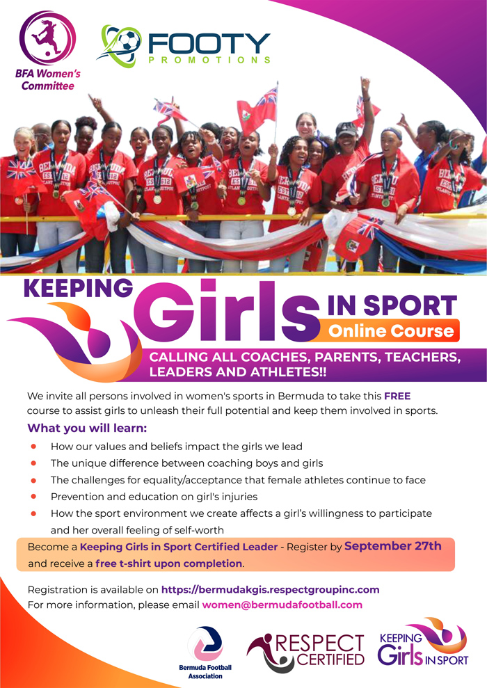 Keeping Girl in Sport Online Course Bermuda Sept 2021
