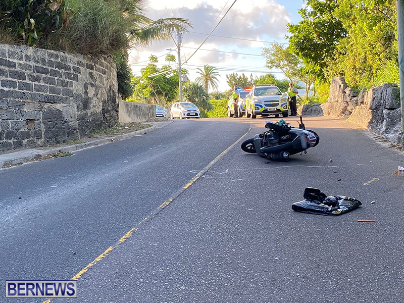 Middle Road Industrial Park Road Southampton Motorcycle Crash Scene 5 September 2021 [2]