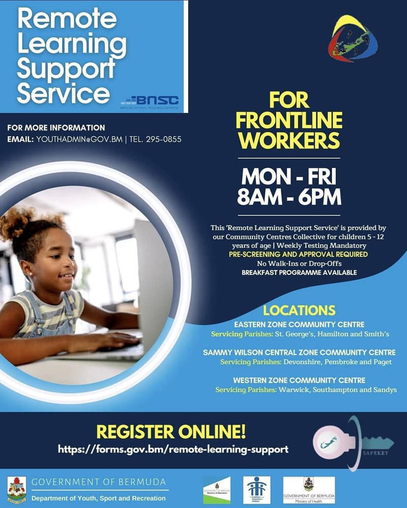 Remote Learning Support Service Bermuda Sept 2021