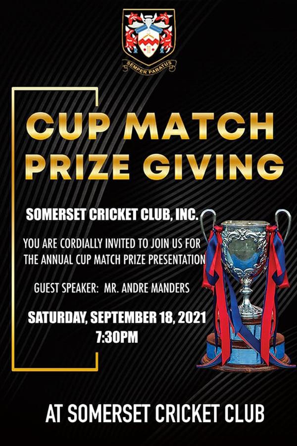 SCC Cup Match Prize Presentation Bermuda Sept 2021