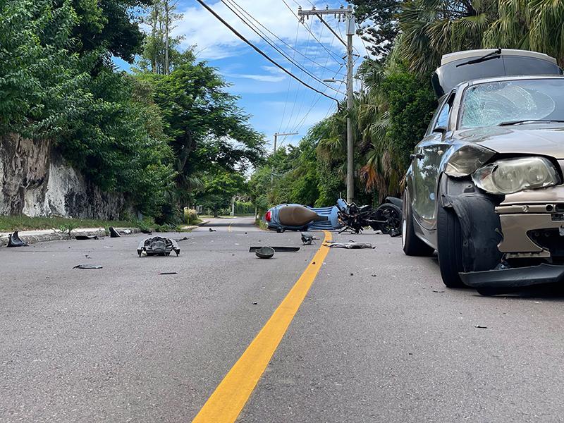 Three Vehicle Collision In Devonshire Bermuda Sept 2021