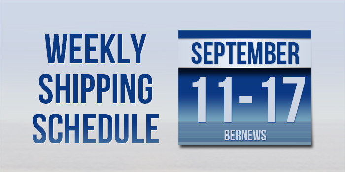 Weekly Shipping Schedule TC September 11 - 17 2021