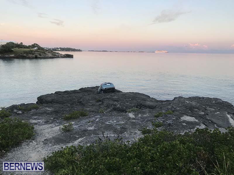 Car Overboard In North Shore Bermuda Oct 2021 11