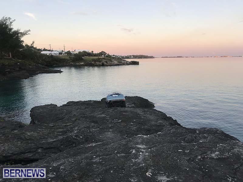 Car Overboard In North Shore Bermuda Oct 2021 12