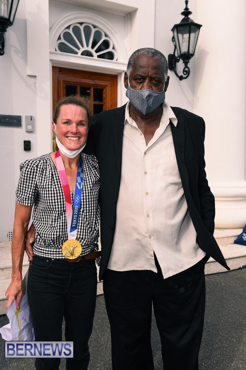 Flora Duffy Clarence Hill Olympic medalists Bermuda 2021 (8)