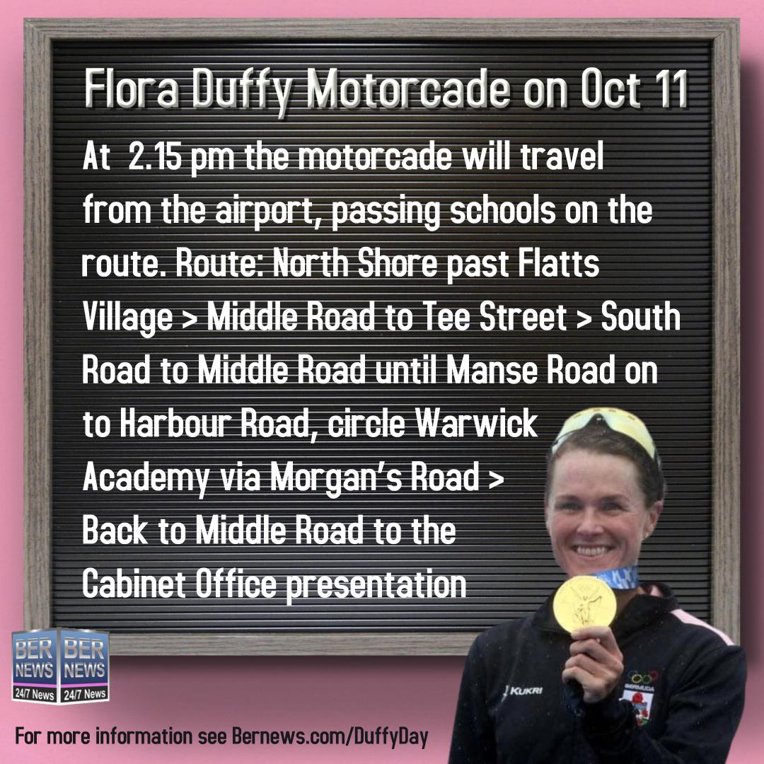 Flora Duffy Motorcade on Oct 11 1