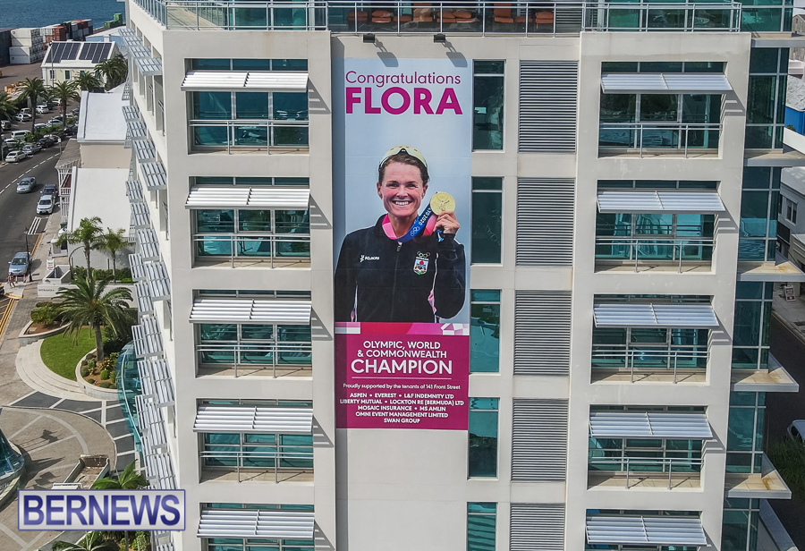 Flora Duffy Sign In Front Street Hamilton Oct 2021 4