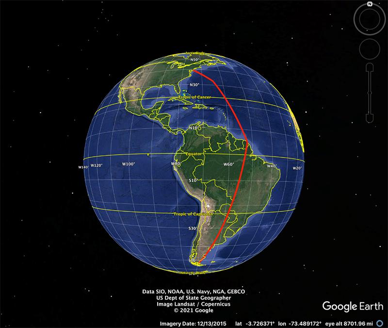 Google Map Courtesy Of Ron Porter Oct 2021