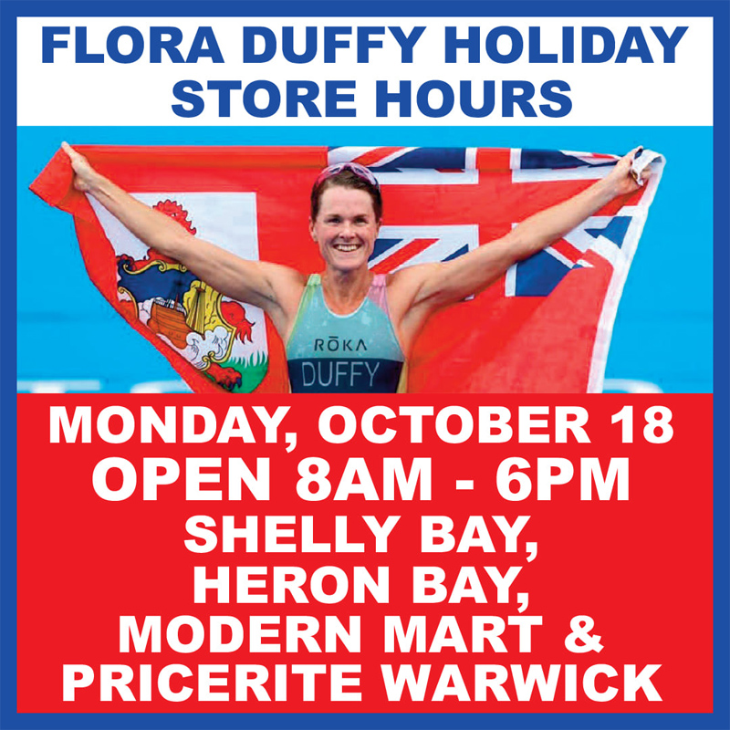 MarketPlace Flora Duffy Holiday Store Hours Bermuda Oct 2021