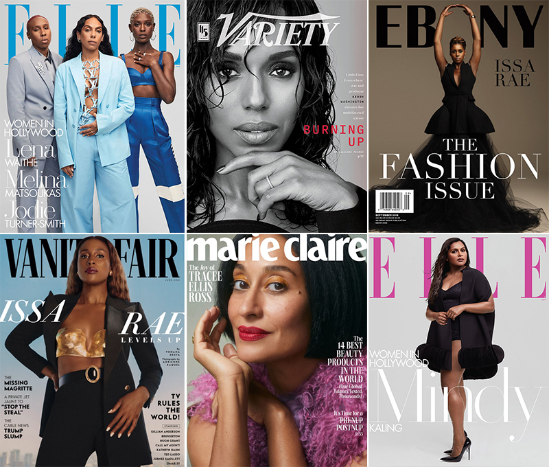 Some of the major magazine covers Shiona Turini has styled in recent years