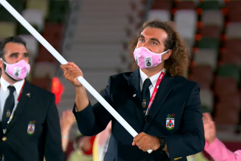 Bermuda team at Japan Olympics 2021 2020 (2)