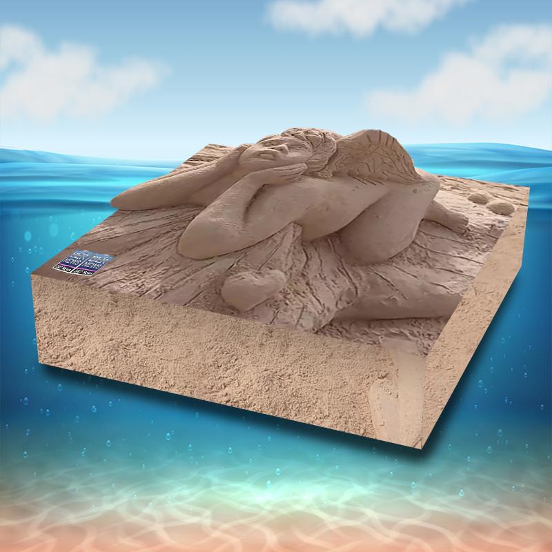 sandcastle Cube 3d bermuda 10220