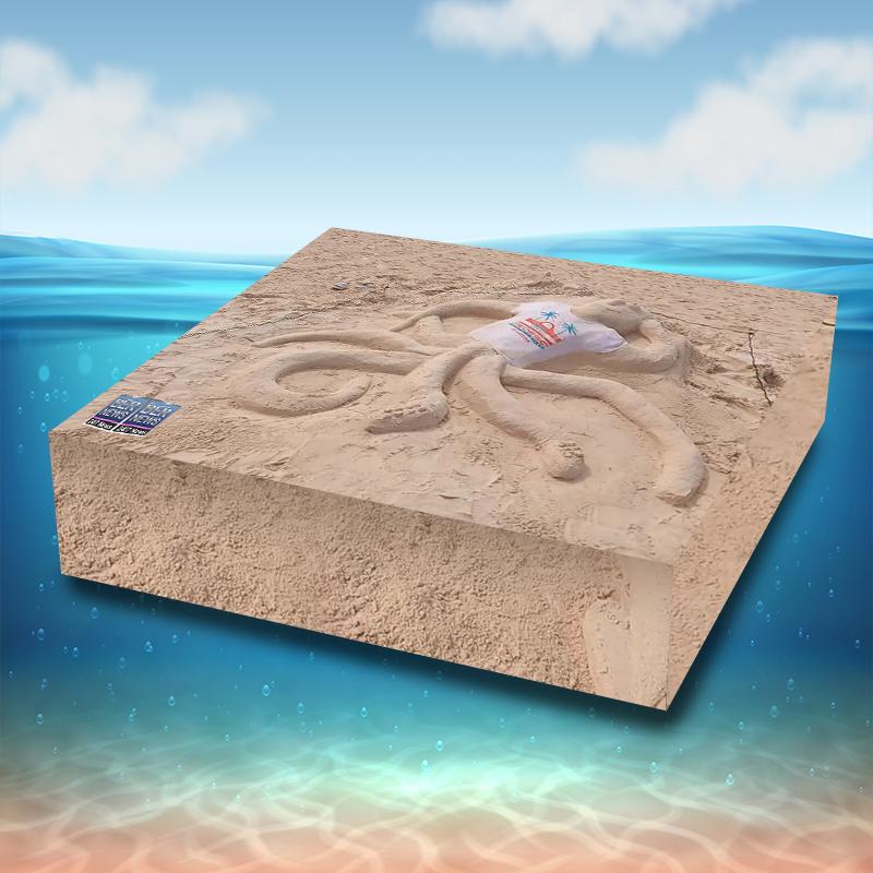sandcastle Cube 3d bermuda beach water 3r5232 (1)