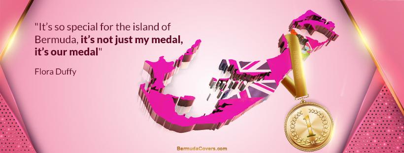 Flora Duffy Bermuda Gold Medal Bernews Facebook Timeline Cover Graphic 68hpP4pH