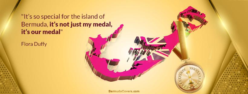 Flora Duffy Bermuda Gold Medal Bernews Facebook Timeline Cover Graphic 68hpP4pI