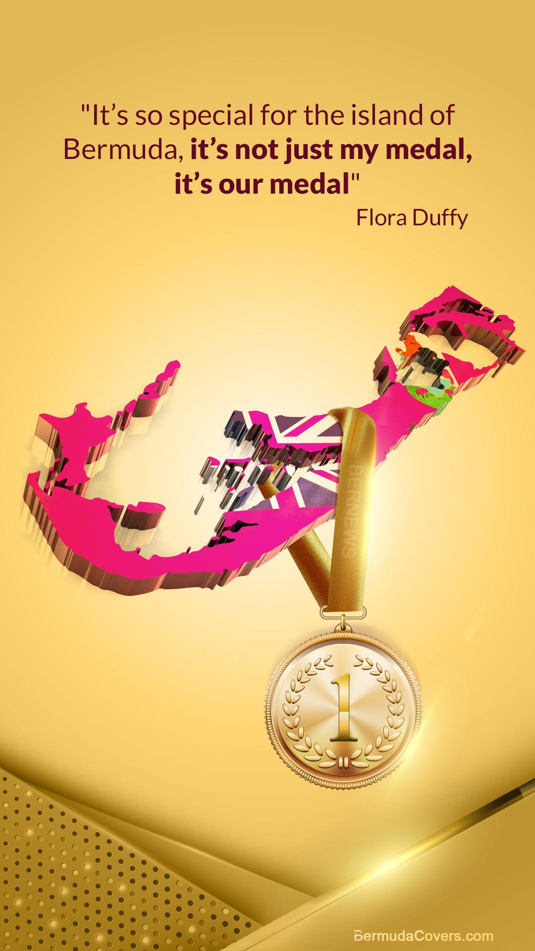 Flora Duffy Bermuda Gold Medal Bernews Mobile phone wallpaper lock screen design image photo 68hpP4pi